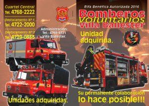 Bomberos Voluntarios Villa Ballester 2016